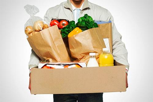 Удобная услуга доставки продуктов покупателю