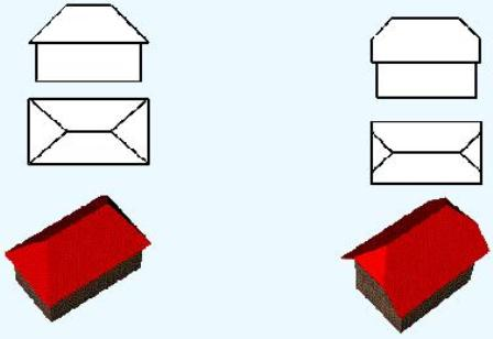четырехскатная (вальмовая) полувальная (двухскатная)