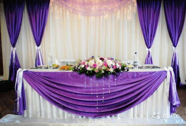 Украшения свадебного зала своими руками